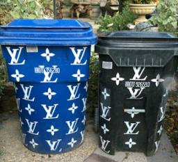 Too Much Cash! Kim Kardashian Shows Off Her Louis Vuitton Trash Bins